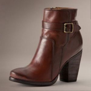 Frye Patty Riding Bootie Ankle Boot Heel